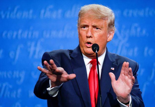 (C) Huffpost India Donald Trump Press meet after election