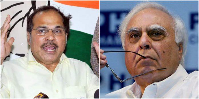 Adhir Ranjan Chowdhury against Kapil Sibal