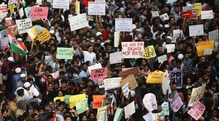 Anti CAA protest in Delhi (file Photo) C: The Inidan Express