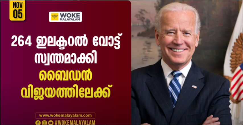 Joe Biden leading US election