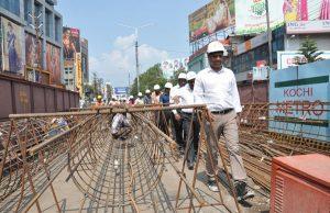 Kochi Metro Construction Site|