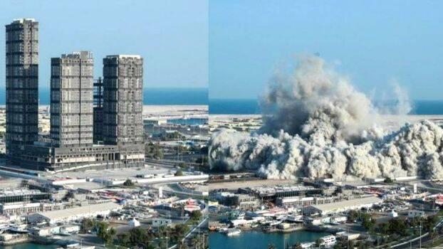 Mina Plaza demolition in just 10 seconds
