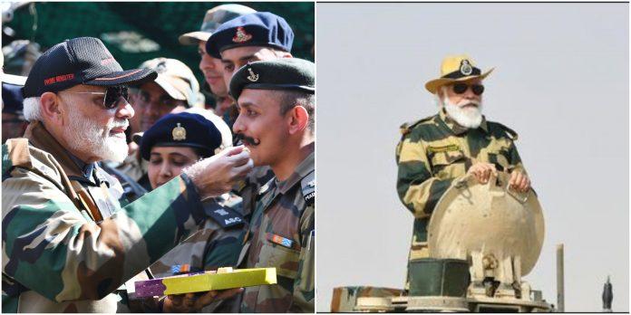 PM Modi celebrates diwali with Indian army