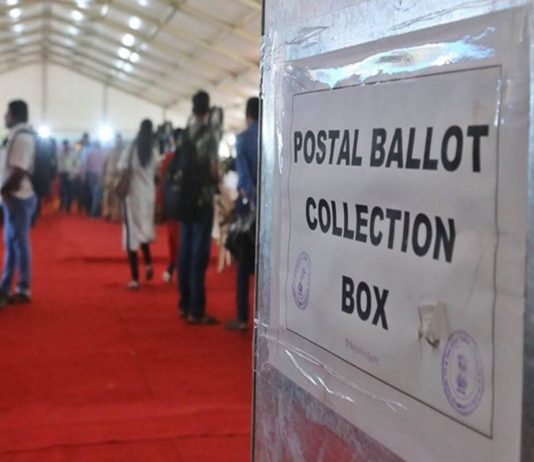 Postalballot collection box