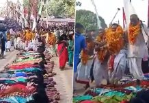 Priests walking over women in Chattisgarh
