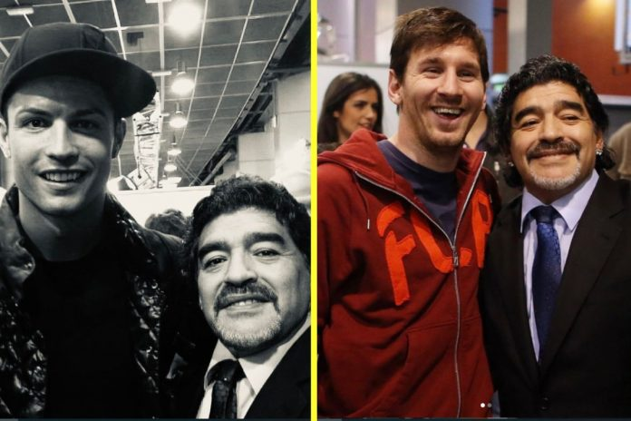 Ronaldo and Messi conveys condolences to Maradona