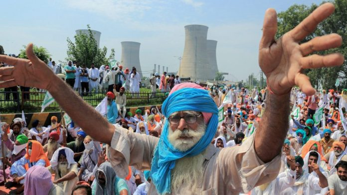 farmers protest progressing on fifth day