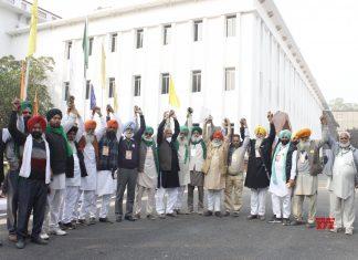 Farmer leaders in Delhi C: The Print