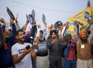 Farmers Protest During Mann KI Baat