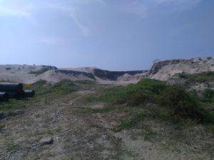 Sand gathered near Terminal