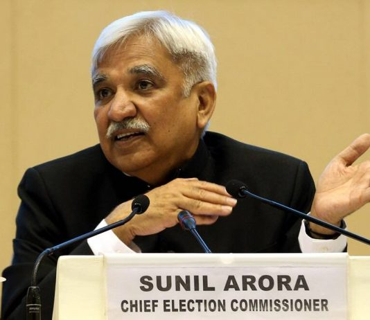 Sunil-Arora, Chief Election Commisioner. Pic C: Indian Express