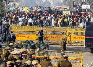 Farmers protest (Picture Credits: The Quint)