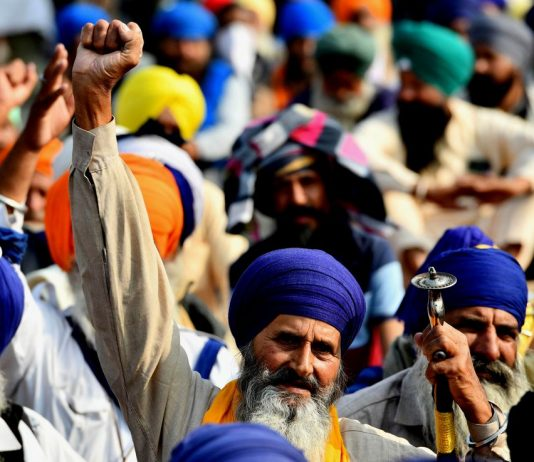farmers protest on ninth day