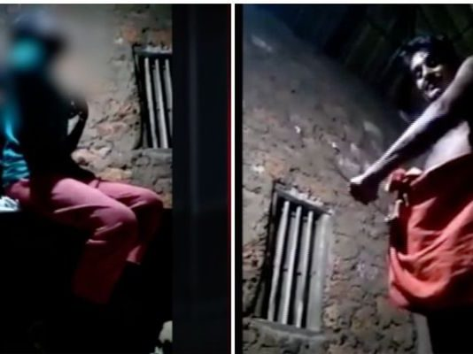 father beating children viral video