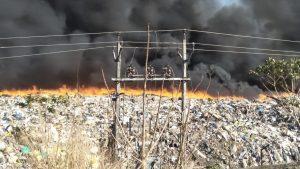 Fire in Brahmapuram waste treatment plant