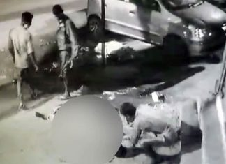 Puthupet murder; fish seller being beheaded in road