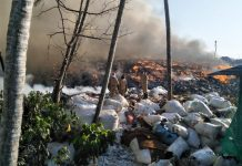 Brahmapuram waste treatment plant on fire