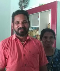CK Vinodh with wife Mohini Narakkal
