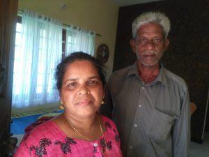 Prasanna and husband Madhu, fishermen colony Arattukadav Narakkal