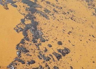 Glass furnace oil leaked