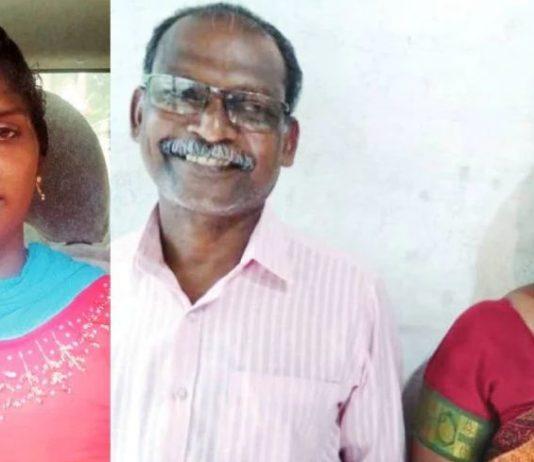 Smija K Mohan, chandran and his wife Leela