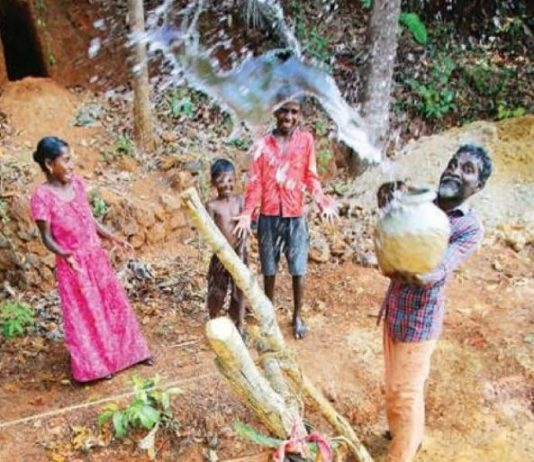childrens made Well for mother in kannur