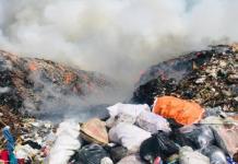 fire at Kochi Brahmapuram waste management area