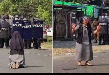 nun plea to army in Myanmar to stop open fire towards protestors