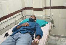 sfi workers ragging student in maharajas college