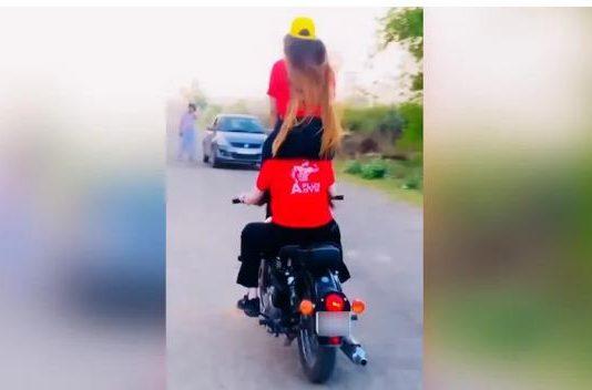 stunt video viral in social media