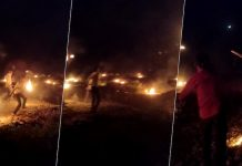 Locals in MP village run with torches to drive away covid sayingBhaag corona bhaag