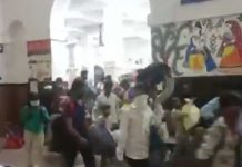 huge crowd runs out of railway station in Bihar's Buxar to escape covid test