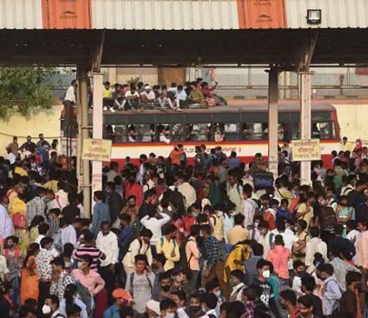 migrant workers leave delhi as cm announces second lock down