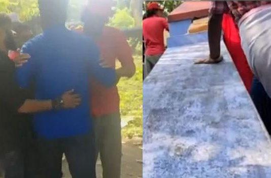 sangh parivar activists block palakkad film shooting