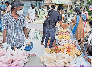 A shop without cashier and cashbox for needy