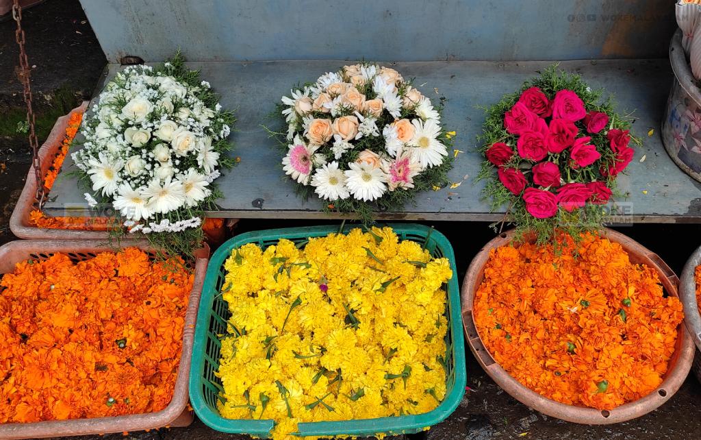 കോവിഡ് മൂലം ഓണത്തിനുള്ള പൂക്കളുടെ ശേഖരം കുറഞ്ഞ അവസ്ഥയിൽ Flower Junction Kochi (c) Woke Malayalam